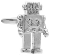 Large Silver Robot Cufflinks (V-CF-71013S)