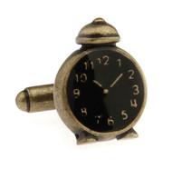 Old Fashion Alarm Clock Cufflinks (V-CF-M68062-AG)