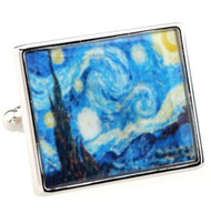 Van Gogh's The Starry Night Painting Cufflinks (V-CF59023)