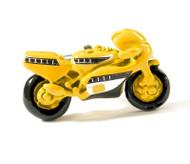 X-Large Yellow Fancy Motorcycle Cufflinks (V-CF-M58189)