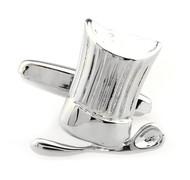 Chef's Hat & Spoon Silver Cufflinks (V-CF-M50263-S)