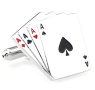 Four Aces Card Cufflinks (V-CF70239)