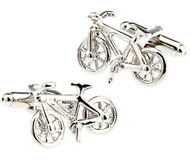 Silver Bicycle Cufflinks (V-CF-51622-S)