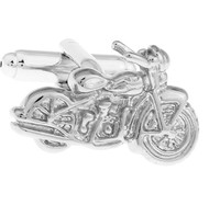 Silver Motorcycle Cufflinks (V-CF-M70747-S)