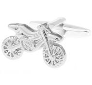 Silver Motorcycle Cufflinks (V-CF-M70633-S)