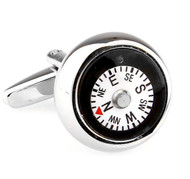 Functioning Compass Cufflinks (V-CF-66176)