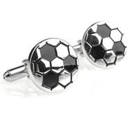 Silver Soccer Ball Cufflinks (V-CF-M5749S)