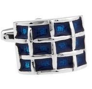 Cobalt Blue Enamel Cufflinks (V-CF-E60855BL)