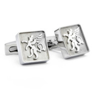Hickey Freeman Logo Stainless Steel Cufflinks (HFCU-HF7)