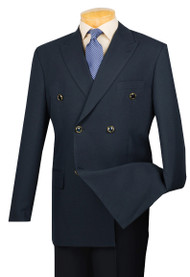 Lucci Double-Breasted Classic Navy Blazer