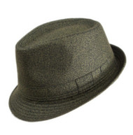 Olive Fedora Short Brim Fashion Hat