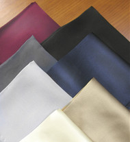 Outlet Center: 100% Satin Silk Pocket Square 12in x 12in