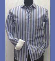 Outlet Center: Antonio Martini Modern Cut Contrasting Cuff 100% Cotton Shirt - French Cuff