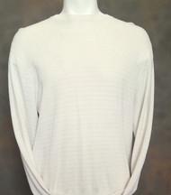 Bobby Chan Silk Long Sleeve Camp Sweater  - Cream