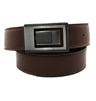 Outlet Center: Contrasting Stitch Reversible 35mm Leather Belt - Brown Reverse Black