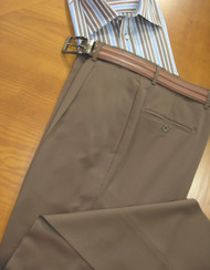 Outlet Center: Gianni Manzoni Wool Italian 1-Pleat Dress Slacks