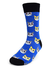 Parquet Men's Novelty Socks - Cool Cat