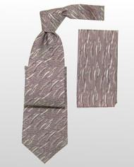 Antonio Ricci 100% Silk Woven Tie - Mauve and Purple Weave