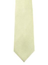 Antonio Ricci 100% Silk Woven Tie - Light Yellow Horizontal Weave