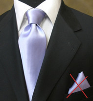 Outlet Center: Antonio Ricci Solid Color Silk Tie - Light Purple