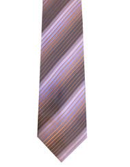 Comete 100% Silk Grey Tone Stripe Necktie