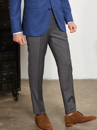 Trend Super 140's Flat Front Dress Slacks -  Ultra Slim Fit