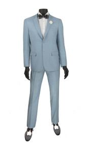 Vinci 2-Button Modern Pale Blue Suit - Ultra Slim Fit