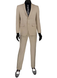 Vinci 2-Button Modern Beige Suit - Ultra Slim Fit