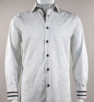 St. Cado White Contrasting Cuff Fashion Sport Shirt - Button Cuff