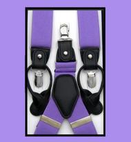Convertible Button & Clip Stretch Braces - Suspenders - Lavender
