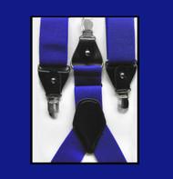 Convertible Button & Clip Stretch Braces - Suspenders - Royal