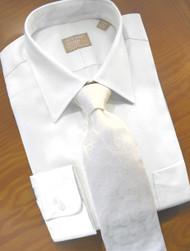 Gitman Bros. 80's 2-Ply Pinpoint Oxford Cotton White Dress Shirt