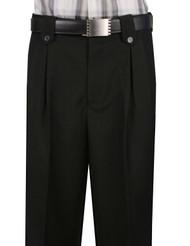 Veronesi 100% Wool Wide-Legged Slacks - Black