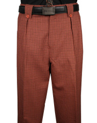 Veronesi 100% Wool Wide-Legged Slacks- Copper Check