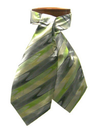 Antonio Ricci 100% Silk Ascot - Green Wave Design