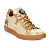 Mauri Genuine Malabo Patent Leather Python Sneaker - Beige