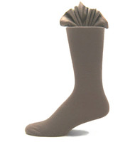 Antonio Ricci Premium Cotton Mid-Calf Dress Socks - Taupe