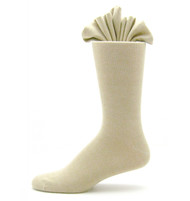 Antonio Ricci Premium Cotton Mid-Calf Dress Socks - Ivory