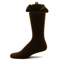 Antonio Ricci Premium Cotton Mid-Calf Dress Socks - Dark Brown