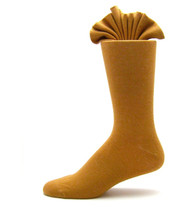 Antonio Ricci Premium Cotton Mid-Calf Dress Socks - Cognac