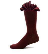 Antonio Ricci Premium Cotton Mid-Calf Dress Socks - Burgundy