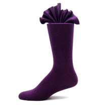 Antonio Ricci Premium Cotton Mid-Calf Dress Socks - Purple