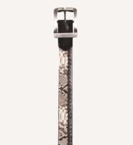 Los Altos Genuine Python Skin & Braided Leather Dress Belt