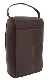 Piel Leather Travel Large Zipper Shoe Bag