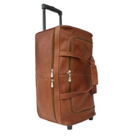 Piel Large Leather Duffel Bag on Wheels