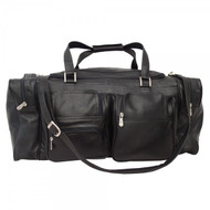 "Piel X-Large 24"" Travel Duffel Leather Bag"