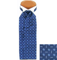 Formal 100% Woven Silk Ascot - Blue