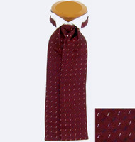 Copy of Copy of Formal 100% Woven Silk Ascot - Burgundy Red Tone