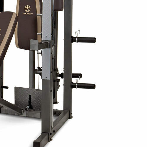 The Marcy Smith Machine SM-4008 has storage posts to conveniently store your weight plates