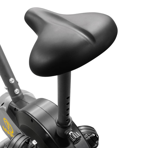 The Upright Magnetic Bike NS-714U by Marcy includes a large comfortable seat for your long rides